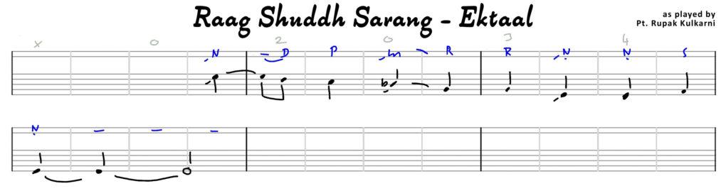 Raag-Shuddh-Sarang-Ektaal-transkription-R.KULKARNI-1-5
