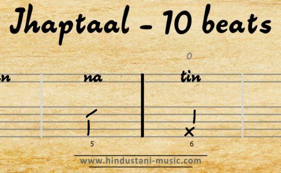 10 beats tala Jhaptaal (Zaptaal)