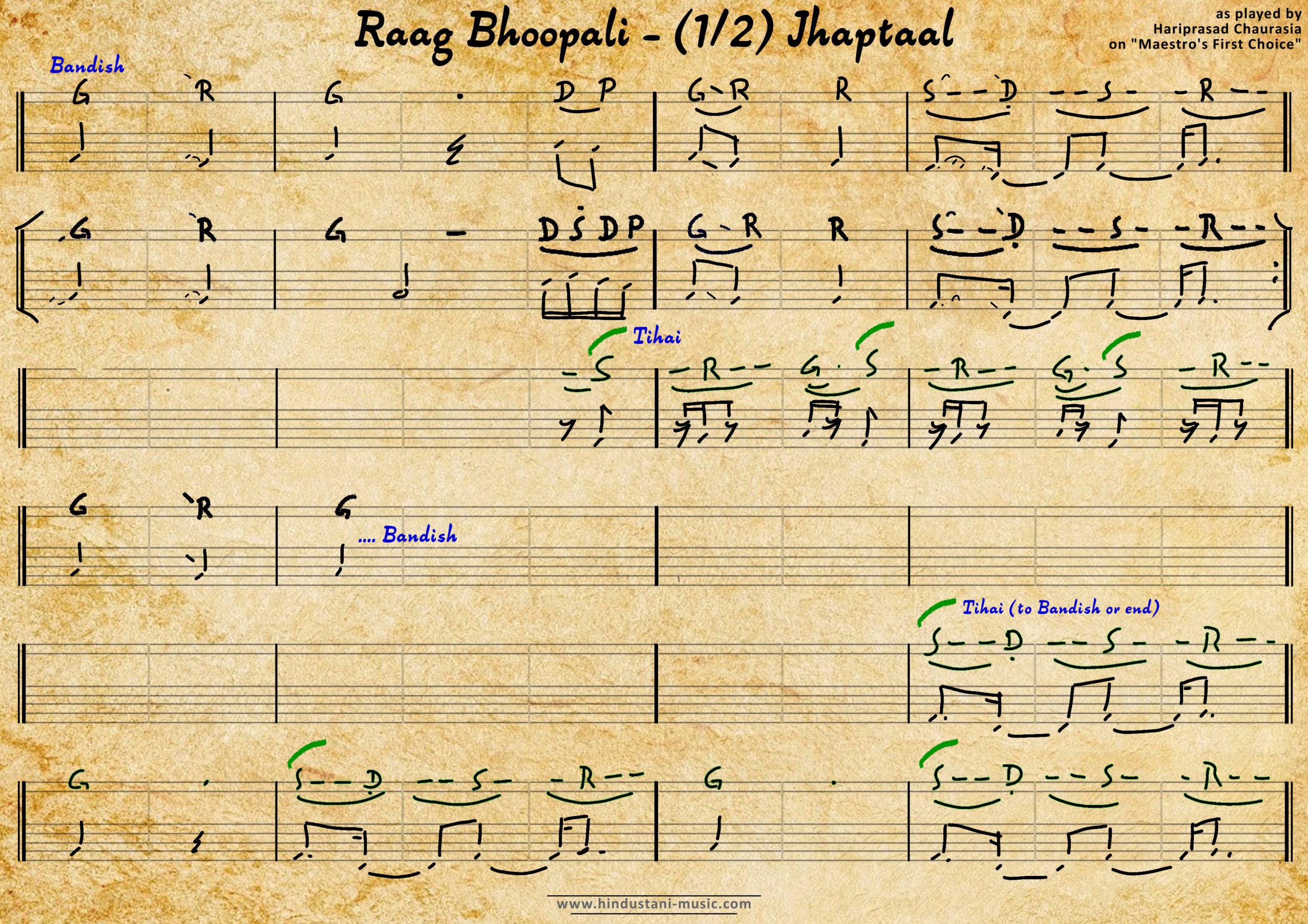Bhoopali - Hariprasad Chaurasia FirstChoice - 1 Jhaptaal