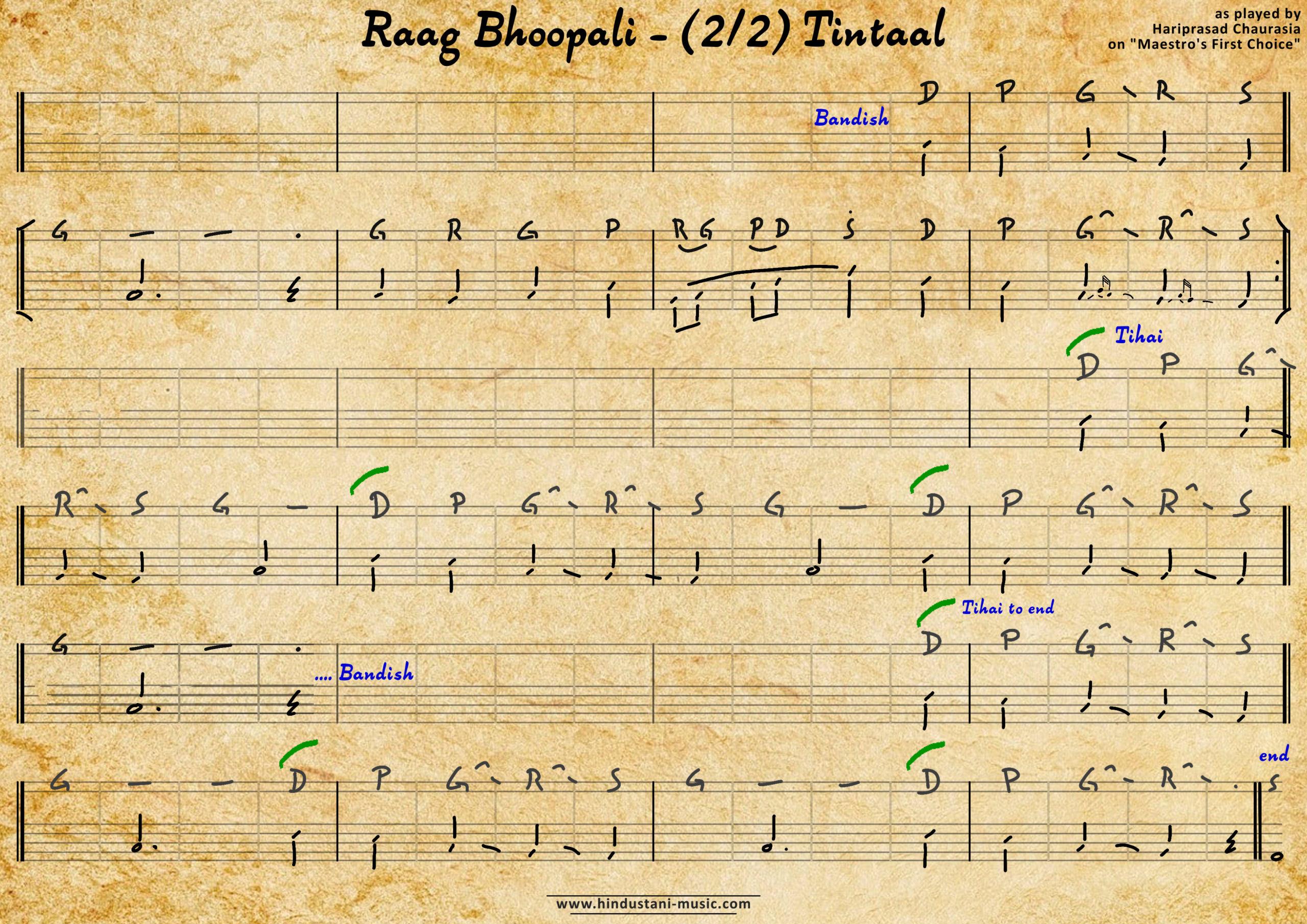 Bhoopali - Hariprasad Chaurasia FirstChoice - 2 Tintaal