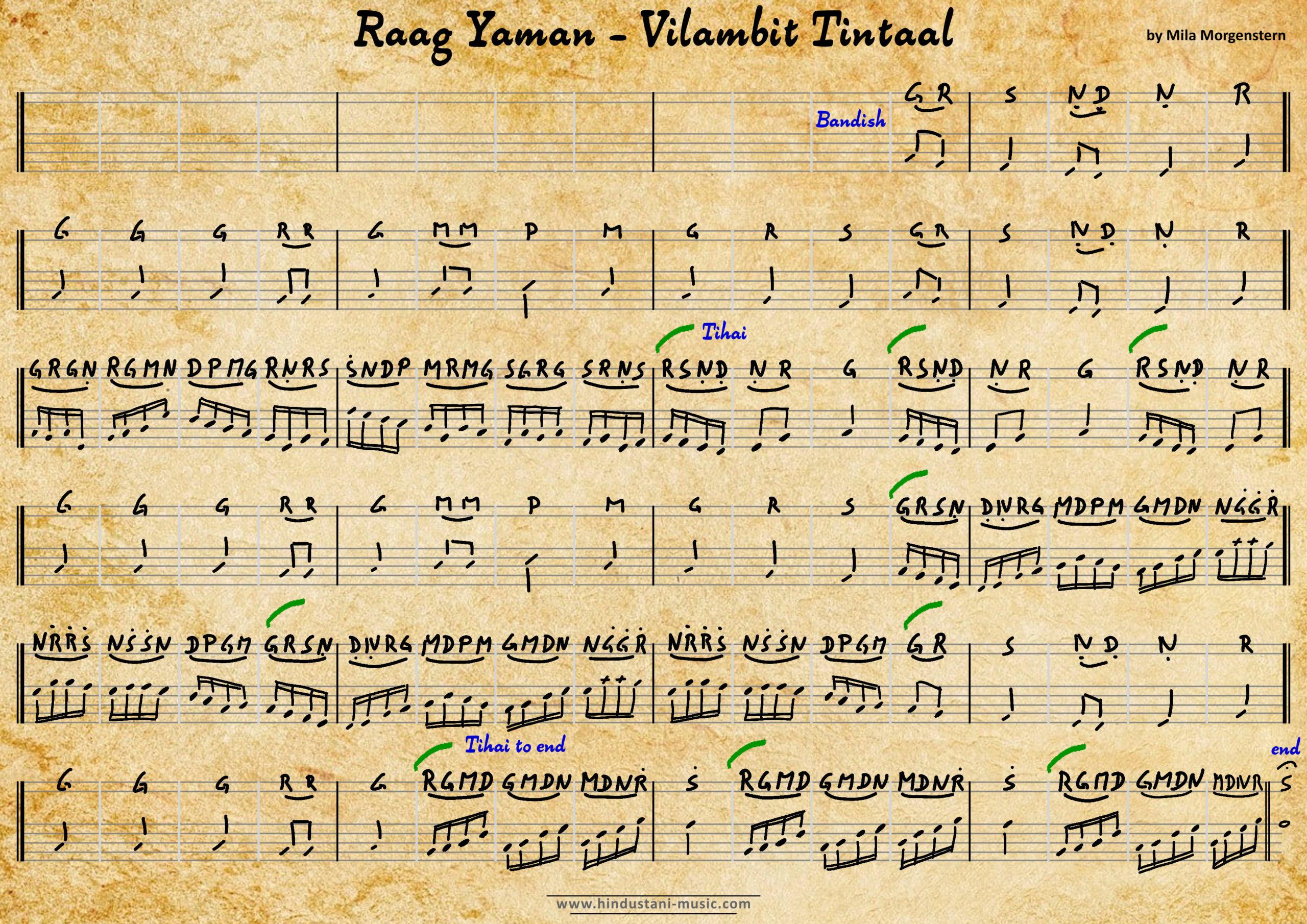 Yaman - MILA MORGENSTERN - Vilambit Tintaal