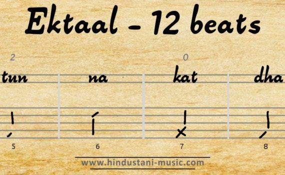 12 beats tala Ektaal